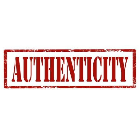 authenticity: Grunge rubber stamp with text Authenticity,illustration