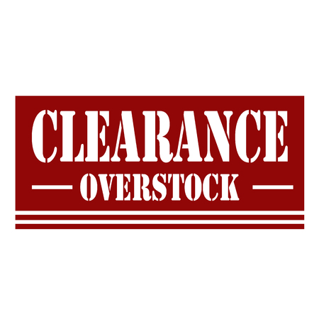 liquidation: Red stamp with text Clearance,illustration Illustration