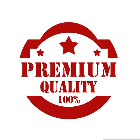 top class: Red stamp with text Premium Quality,illustration Illustration