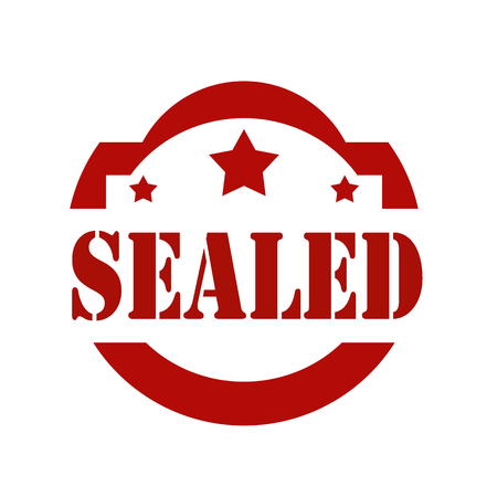 Red stamp with text Sealed,vector illustration Illustration
