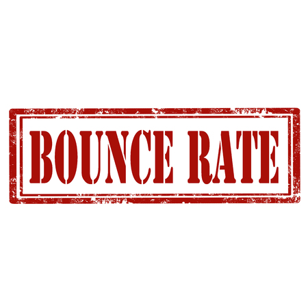 exclude: Grunge stamp with text Bounce Rate.
