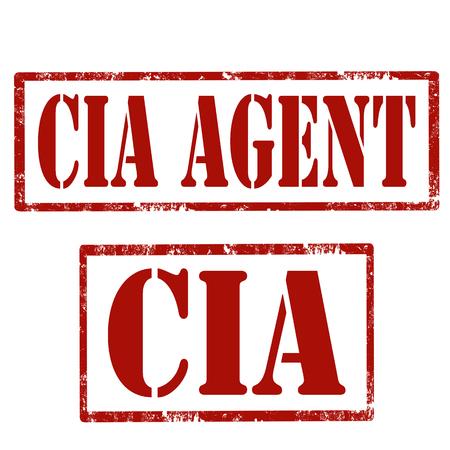 Set van grunge stempels met tekst CIA-agent.