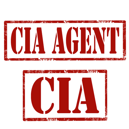 Set of grunge stamps with text CIA Agent.