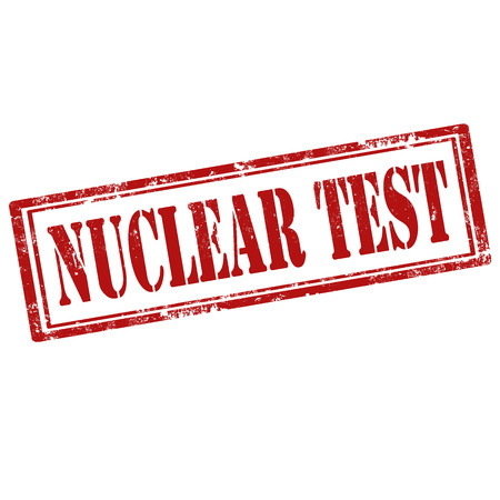 Grunge rubber stamp with text Nuclear Test,vector illustration