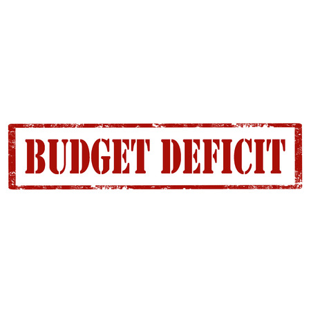 Grunge rubber stamp with text Budget Deficit,vector illustration