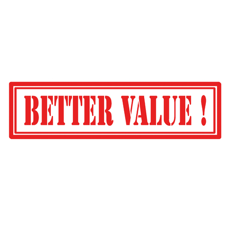 Red stamp with text Better Value,vector illustration 向量圖像