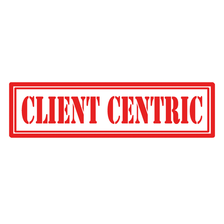 Red stamp with text Client Centric,vector illustration