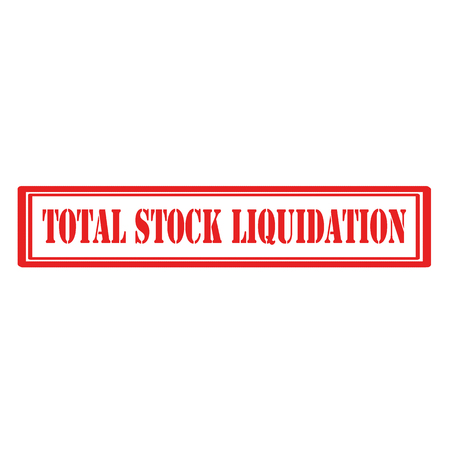 Stamp with text Total Stock Liquidation vector illustration