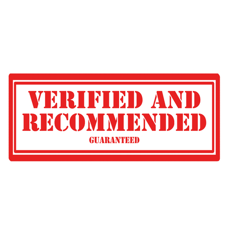 Stamp with text verified and recommended,vector illustration.