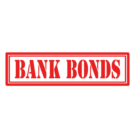 Red stamp with text Bank Bonds,vector illustration
