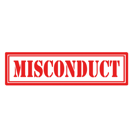 Red stamp with text Misconduct,vector illustration