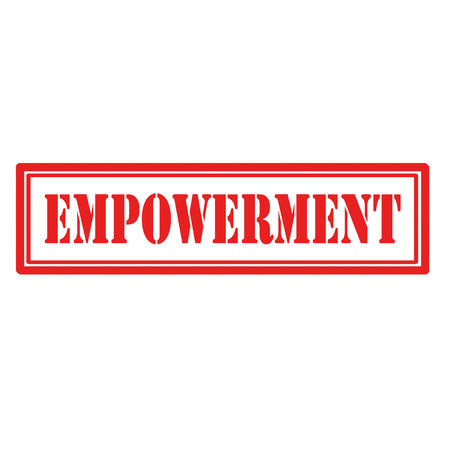 Red stamp with text Empowerment,vector illustration