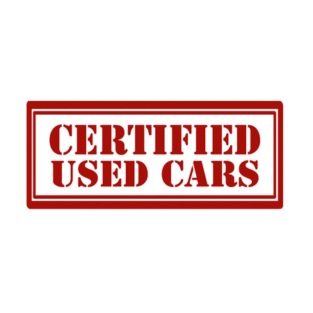 Red stamp with text Certified Used Car,vector illustration