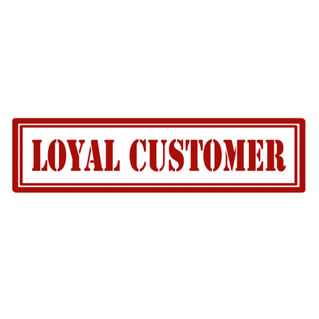 Stamp with text Loyal Customer,vector illustration Çizim