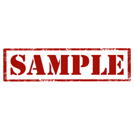 Grunge rubber stamp with text Sample, vector illustration Stock Illustratie