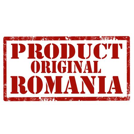 Grunge rubberzegel met vectorillustratie van Roemenië van het tekstproduct de originele.