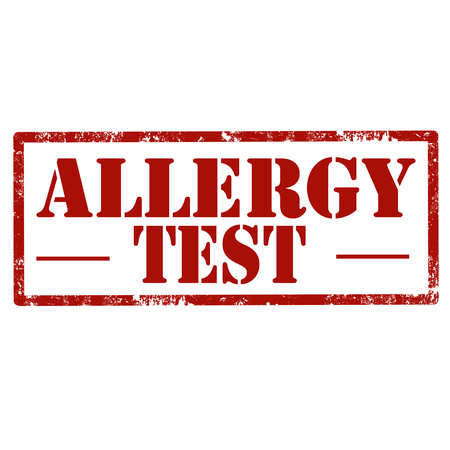 Grunge rubber stamp with text Allergy Test,vector illustration