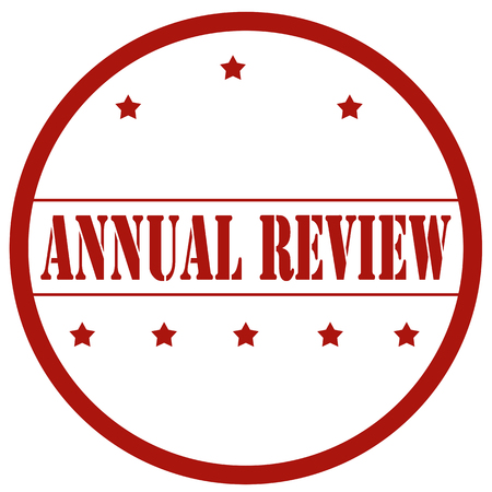 Red stamp with text Annual Review,vector illustration Illusztráció
