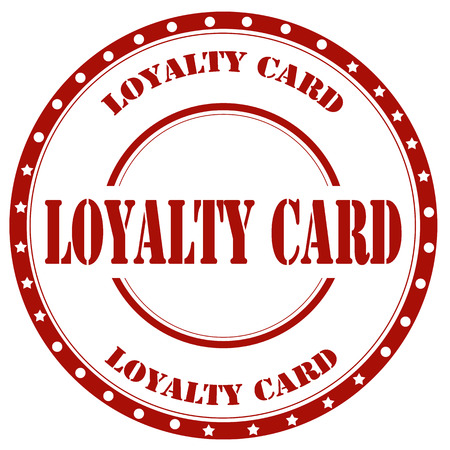 Red stamp with text Loyalty Card,vector illustration