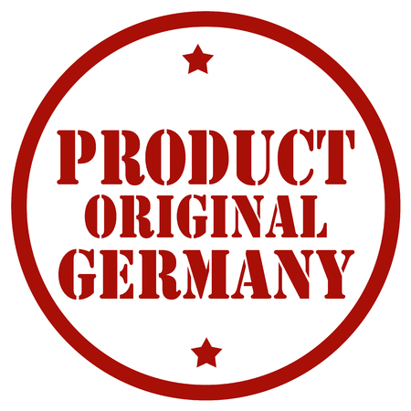 Red stamp with text Product Original Germany, vector illustration