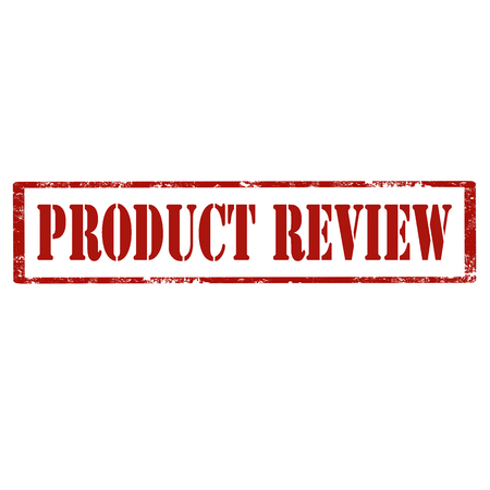 Red stamp with text Product Review, vector illustration 向量圖像
