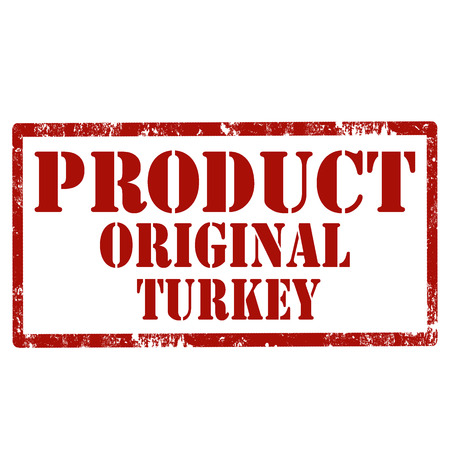 Red stamp with text Product Original Turkey, vector illustration