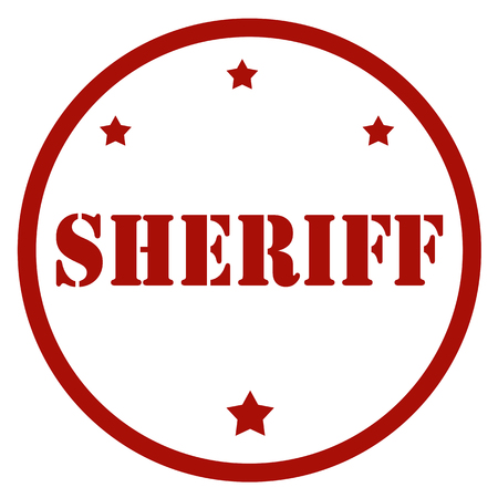Red stamp with text Sheriff, vector illustration