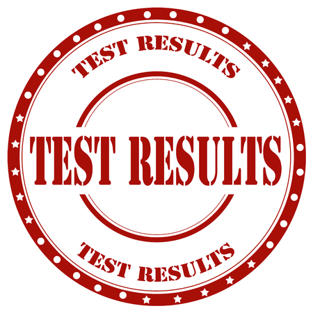 Red stamp with text Test Results, vector illustration 向量圖像