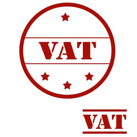 Set of stamps with text VAT(Value Added Tax), vector illustration Ilustração