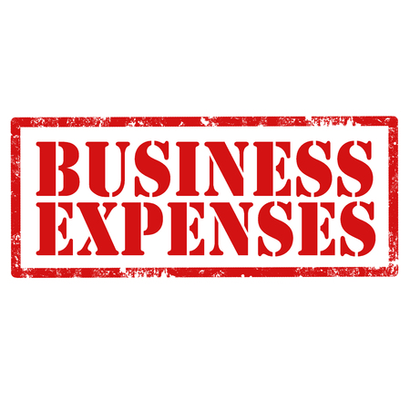 Grunge rubber stamp with text Business Expenses,vector illustration