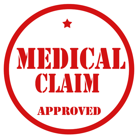 Red stamp with text Medical Claim,vector illustration
