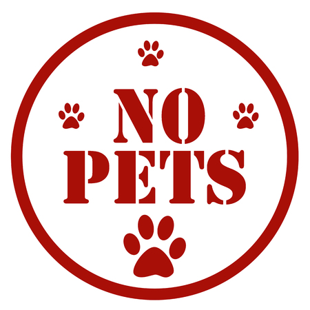 Red stamp with text No Pets,vector illustration Illustration