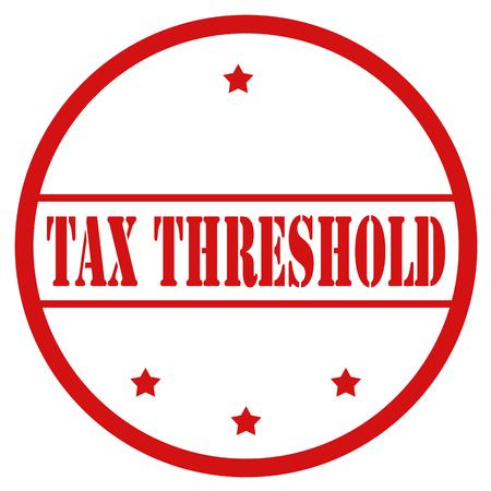 Rode stempel met tekst belastingdrempel, vectorillustratie