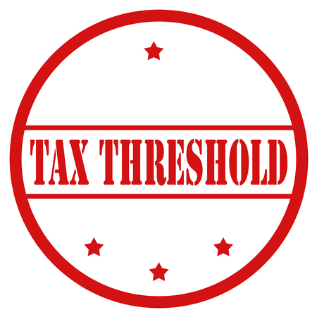 Red stamp with text Tax Threshold,vector illustration