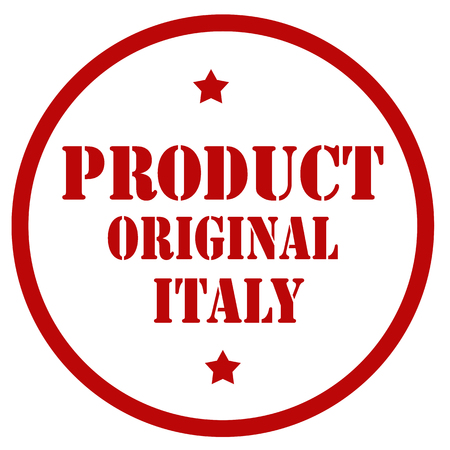 Red stamp with text Product Original Italy,vector illustration Çizim