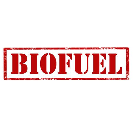 Grunge rubberzegel met tekst Biobrandstof, vectorillustratie.