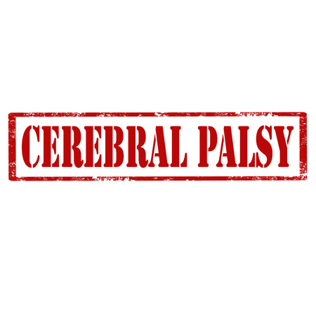 Grunge rubber stamp with text Cerebral Palsy, vector illustration. Illustration
