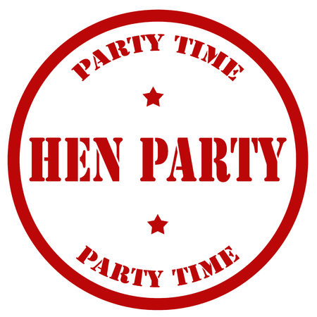 Red stamp with text Hen Party,vector illustration