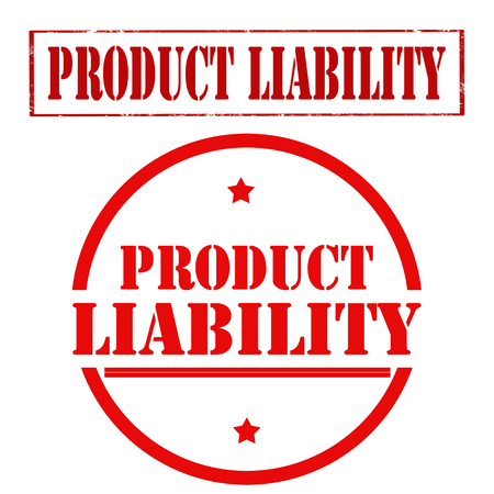 Product Liability stamp template on red illustration