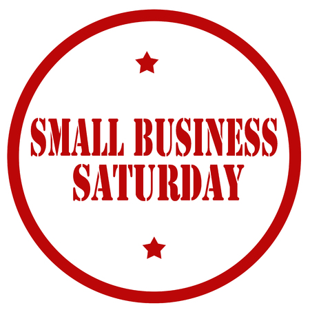 Red stamp with text Small Business Saturday,vector illustration 일러스트