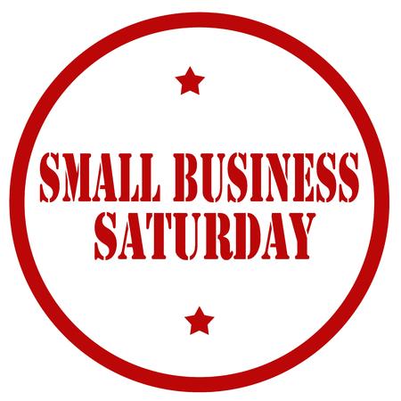 Sello rojo con el texto Small Business Saturday, ilustración vectorial