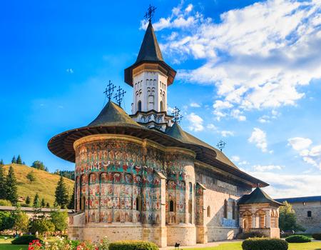 The Sucevita Monastery, Romania. One of Romanian Orthodox monasteries in southern Bucovina.