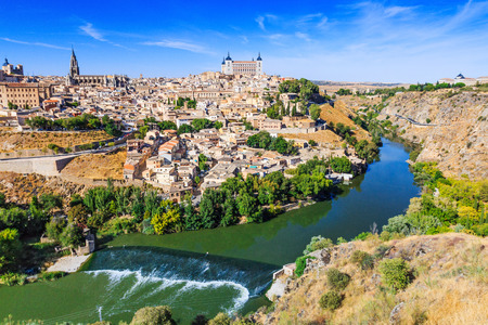 Toledo, Spain. Old city over the Tagus River. Editorial