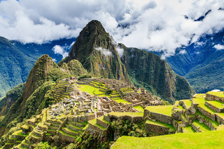 Machu Picchu, Peru. UNESCO World Heritage Site. One of the New Seven Wonders of the World Stok Fotoğraf