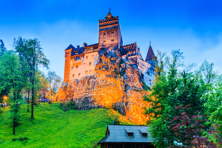 Brasov, Transylvania. Romania. The medieval Castle of Bran, known for the myth of Dracula. Stok Fotoğraf - 79383848
