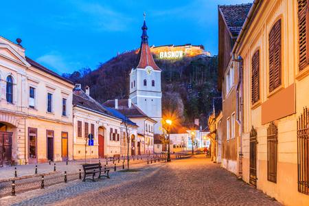 ルシュノフ、ルーマニア。要塞のトランシルヴァニア、丘の上の遺跡の中世ザクセンの都市。 写真素材