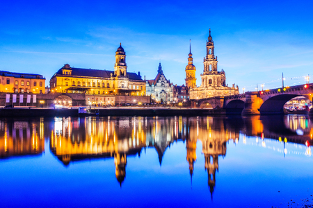 Dresden, Germany. cityscape on the Elbe River.