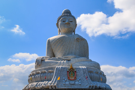 Phuket, Thailand.Big buddha at Naga hills.
