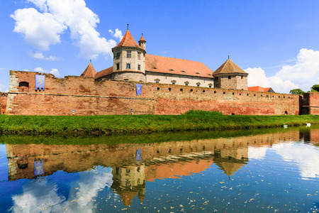 Fagaras, Romania.Famous medieval castle in Transylvania,Europe.