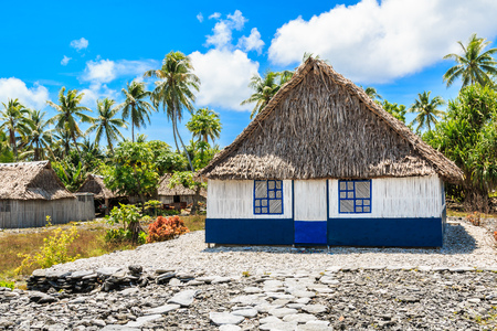 Tabuaeran, Fanning Island,Republic of Kiribati.Traditional house in Fanning Island.